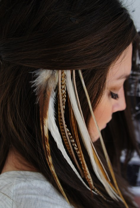 beautiful feather extensions