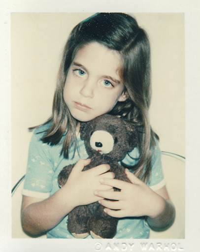 Unidentified Girl (Blue T-shirt With Teddy Bear), a.k.a. Jade Jagger, 1979 Andy Warhol