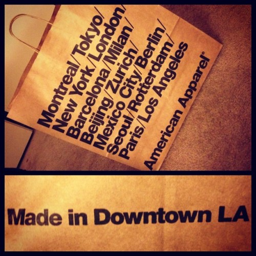 kimfucius:  ✌ #americanapparel #brownbag  (Taken with instagram)