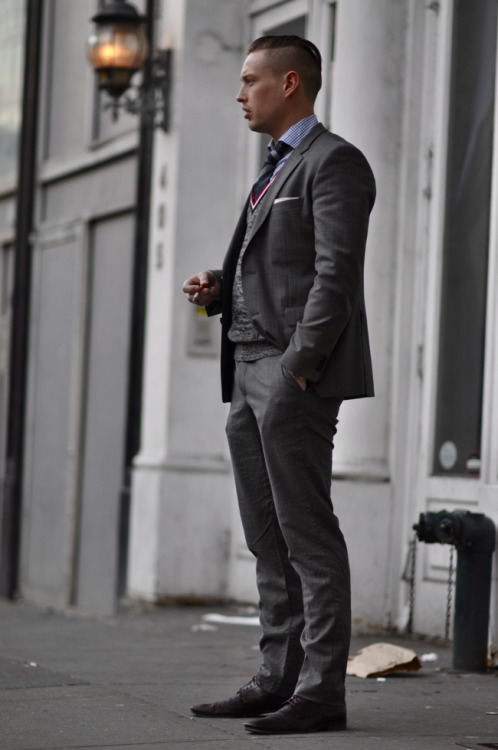 whiskeysoaked:  Street Style: Street Gents | Jarre of Hugo Boss