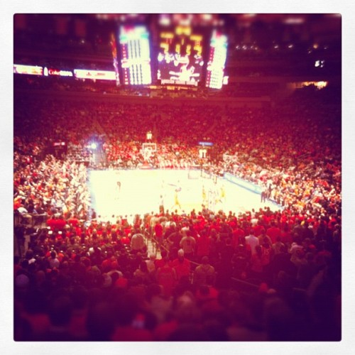 A sea of orange at MSG in NYC today.  (Taken with Instagram at Madison Square Garden)