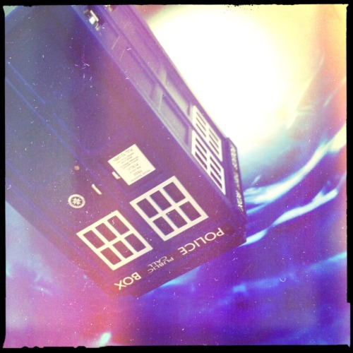 TARDIS in the Time Vortex Bettie XL Lens, Blanko Noir Film, No Flash, Taken with Hipstamatic