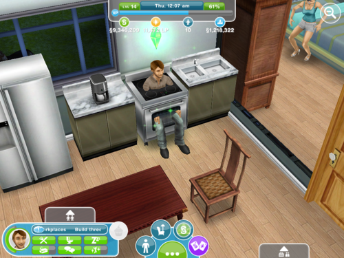 i turned on my sims game only to discover Feliciano found his new favorite place to sit