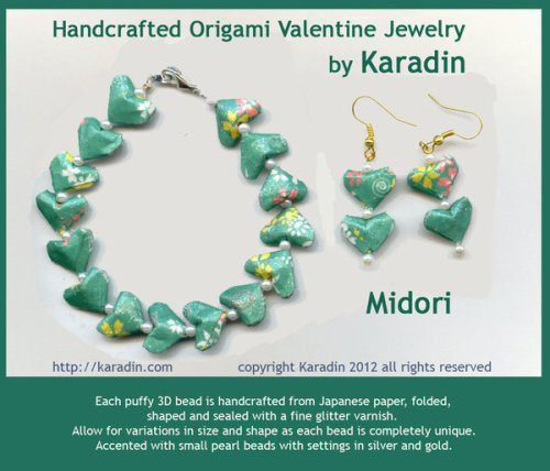 Midori - Origami Valentine Jewelry by Karadin this colourway named for my friend <3  *earlier image too light*