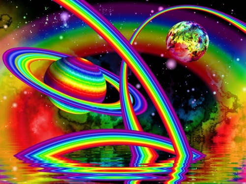 On Sparkly Jesus' planet everything is a goddamn rainbow. And we need unicorns to ride all of them. ALL OF THEM.