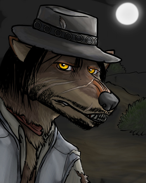 blutfuss:  OLD ART of John Marston as a werewolf I want to redo this sometime