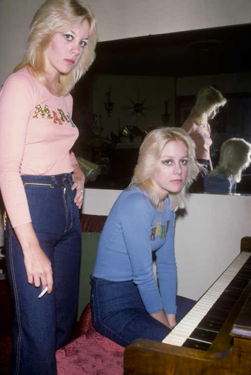 bradelterman:  I was invited on several occasions to Cherie Currie's family home in the San Fernando Valley. It was there that I met twin Marie. I had never seen her before and I thought that I was seeing double. This was big news and I took these photos which ended up all over the Japanese press.  Photo by Brad Elterman