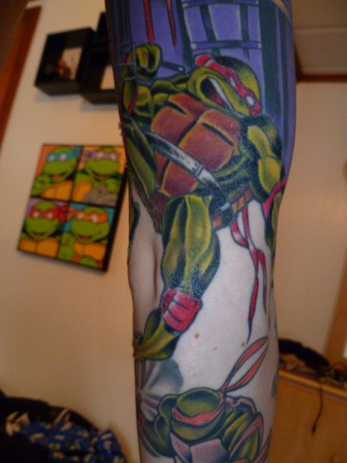 TMNT sleeve (unfinished), artist and studio not mentioned