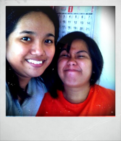 Here at my cousin's place. Me with weyn on the photo.