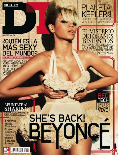 Beyonce Knowles photographed by Ellen von Unwerth for the cover shoot of the DT Magazine Spain for the February 2012 issue.