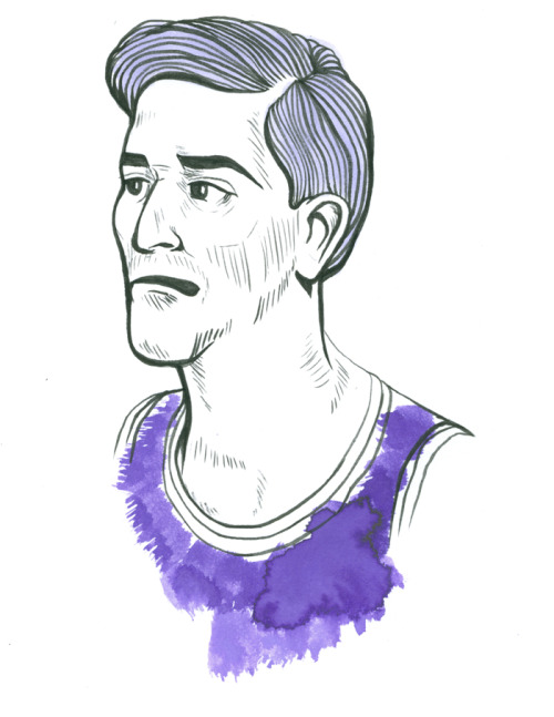 Jeff Hornacek circa. WHENEVER (He always looked like he was in his 40s.) by Chris Edser (www.chrisedser.com)