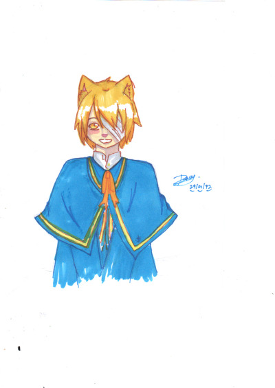 Oliver with Nekomimi… :3 submitted by oliver fanart powerhouse dacy02
