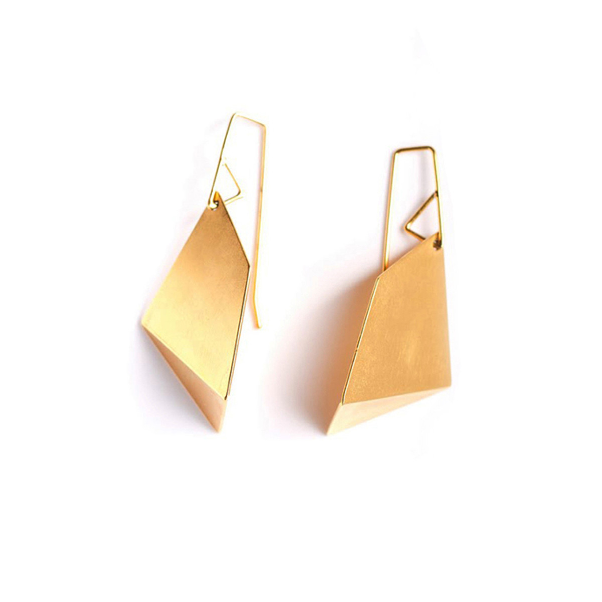 Fab.com Small Single Fold Earrings Gold, 25% offFab.com