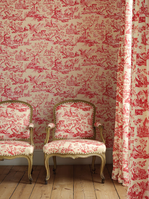 wallpaper, curtains and fabric