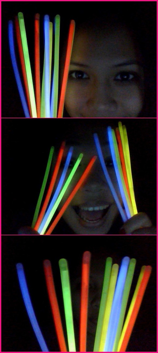 Like a kid, I found myself playing with these GLOW STICKS.