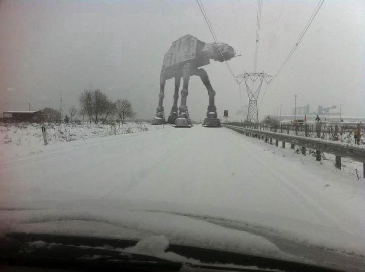 First the snow, now this. Britain is colder than Hoth right now.
