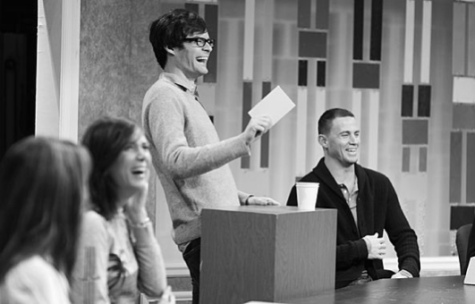 Kristen Wiig, Bill Hader and Channing Tatum crack up during rehearsal.