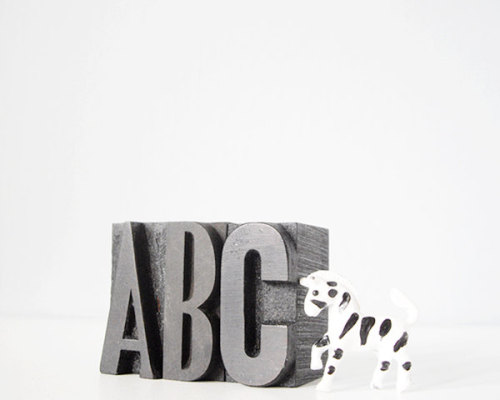 ABC vintage letterpress type wood blocks // thecupcakekid.etsy.com