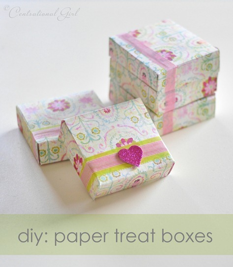 Centsational Girl » Blog Archive » DIY Paper Treat Boxes