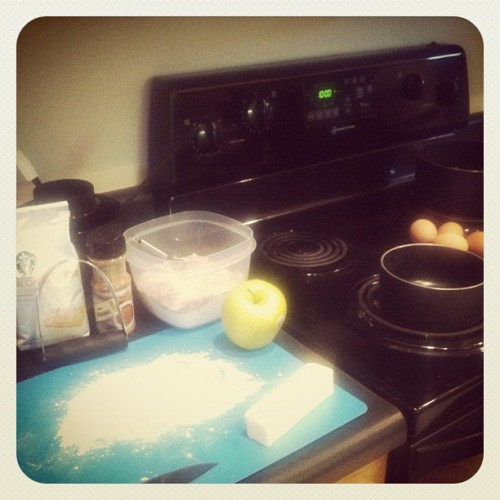 #febphotoaday 10:00am and I'm cooking/baking from scratch  (Taken with instagram)