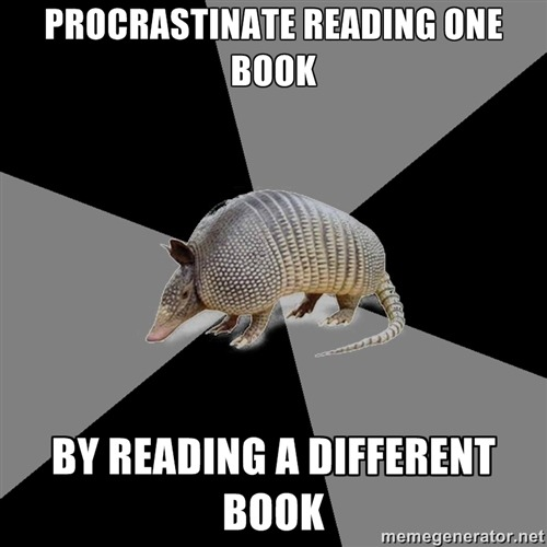 sailingtoagoldenshore:  I'm so guilty of this… I usually have 3 books on the go at once!