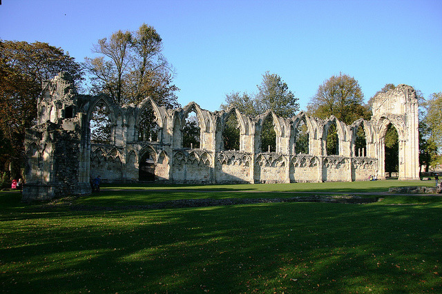 Ruins of St Mary's Abbey, York by Stu.G on Flickr.