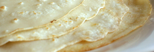 ellesalmanack:   Healthier Simple Crepe (with Egg Whites) I wasn't pleased with the calorie count on the other one so I tweaked the recipe and the result is now an egg-white crepe AND has a third less calories per serving. It's whiter than the other one (now that the egg yolk isn't providing color), bit thinner, bit plainer tasting but I tend to taste what I'm pairing with it (crushed bananas!) anyway so I wasn't too concerned. If I do another version of a crepe, I'll probably attempt a vegan one. :) Ingredients: 1/2 cup flour 1 egg white 1/2 cup water 1/2 Tablespoon margarine Creates 4 crepes. Nutritional Facts: Calories Per Serving: 68 cal Fat (g) per Serving: 1.03 g Carbs (g) per Serving: 11.55 g Protein (g) per Serving: 2.40 g Sodium: 29.13 Cost Per Serving: $0.05 NOTE: All content in this blog is original and includes images, nutritional information and recipe costs for each post.