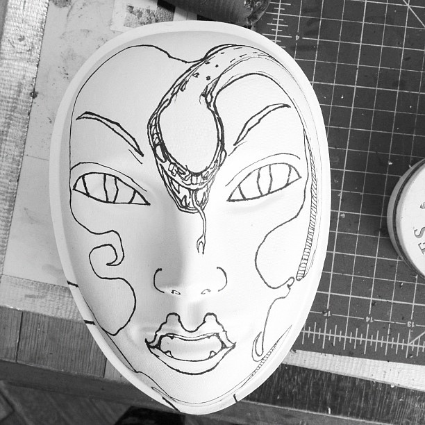 wip pt 2 #tom #mask (Taken with instagram)