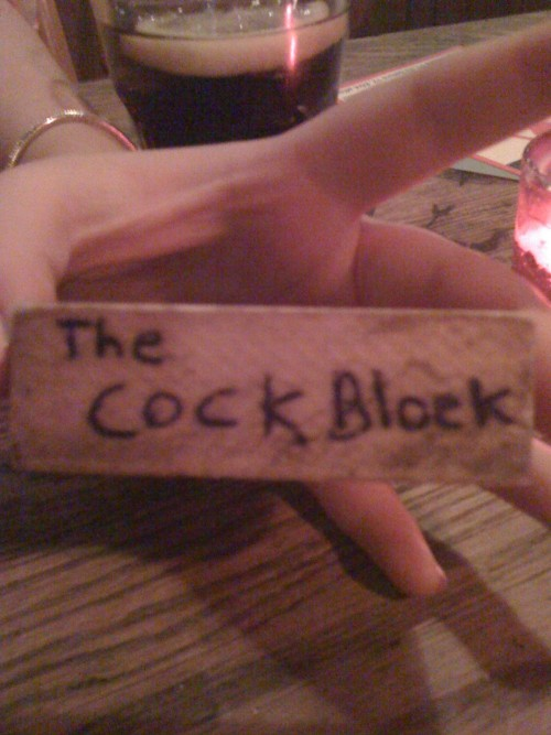 So in this hipster bar with a hot girl playing Jenga, doing quite well until……….