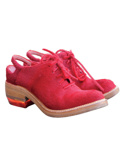 """I've been wearing these red pony-skin brogues nonstop."" - Susie Bubble on her daily style must-haves. Take a peek into a day in the life of this top blogger here »"