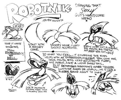 ~Model sheet of Dr. Robotnik from AoStH~