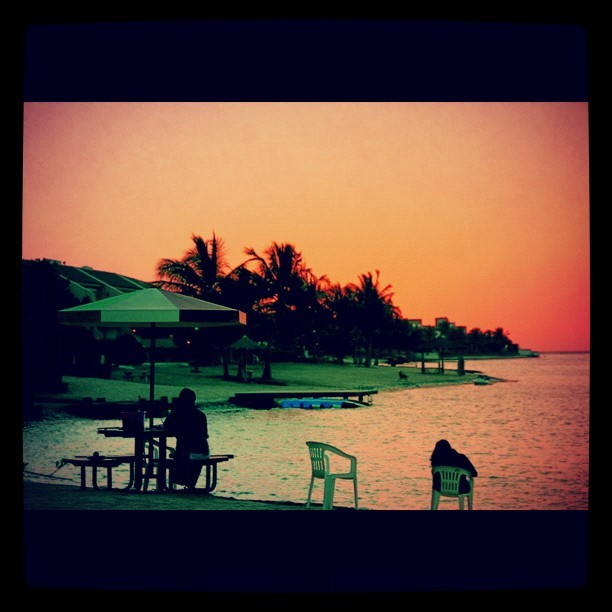 #SunSet #Jeddah #Beach  (Taken with Instagram at منتجع درة العروس)