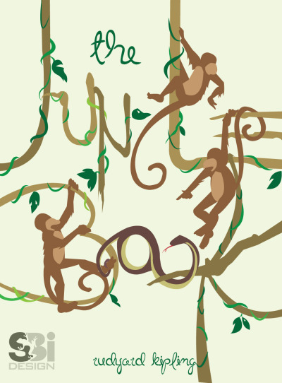 I recreated the book cover for Jungle Book last year. It's fun and kinda quirky.