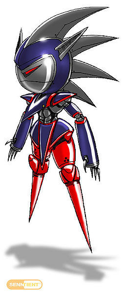 ~One of many Metal Sonic designs from the scrapped Sonic X-Treme, this boss fight was the furthest along in terms of development~