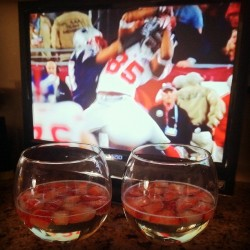 Super Bowl Booze: Prosecco & Strawberriea (Taken with instagram)