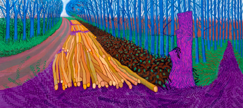 David Hockney - Winter Timber