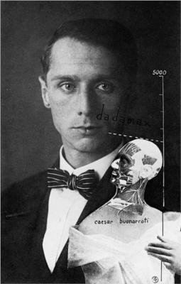 Max Ernst (1891 – 1976), German painter, sculptor, graphic artist, poet and one of the primary pioneers of the Dada movement and Surrealism.  Self-Portriat