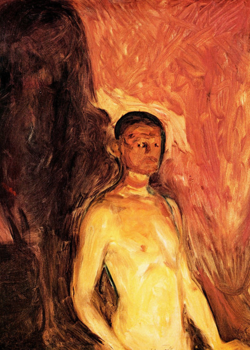 Edvard Munch, Self-Portrait in Hell, 1903
