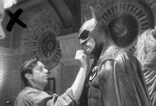Behind the scenes pic from the 1989 Batman movie Shortly before Michael Keaton dances with the Devil in the pale moonlight. Submitted by prognation