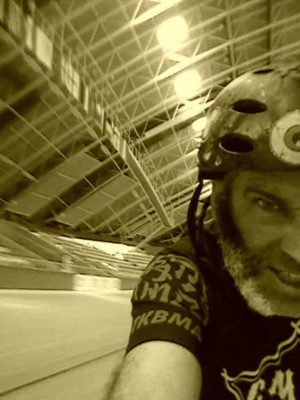 self pic on  Pruszkow velodrome