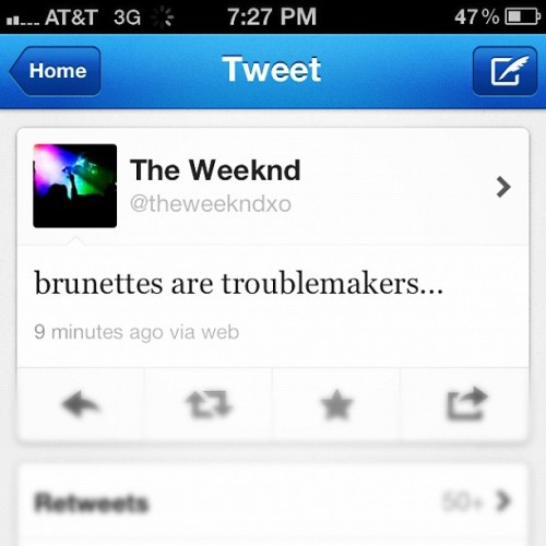 He knows what he's talking about :) #theweeknd (Taken with instagram)