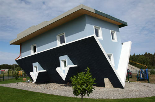 The most boring creativity.  oliphillips:  Upside Down House by Klaudiusz Golos and Sebastion Mikuciuk