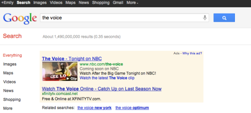 Search + Super Bowl - Great job NBC in mirroring the message. Best I've seen all night.