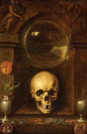 fuckyeahvanitas:  Vanitas Still Life by Jacques de Gheyn the Elder (1603)