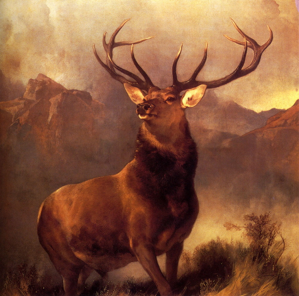 mineralspiritpoisoning:  Sir Edwin Landseer's Monarch of the Glen