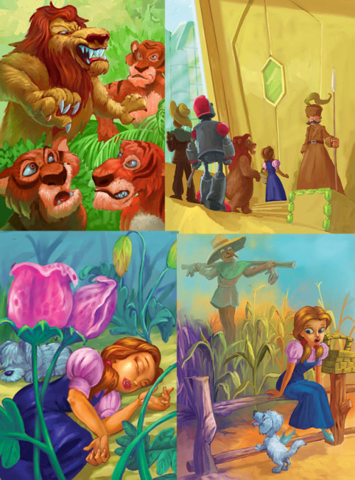 "fairytalemood:  ""Wizard of Oz"" by donpaking"
