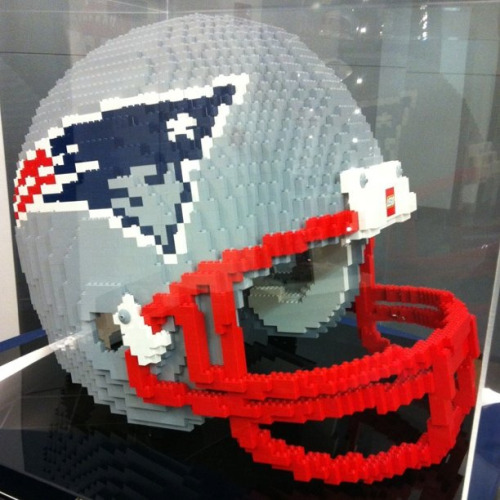 Patriots helmet made entirely out of Legos. by Mick Muise on Flickr.