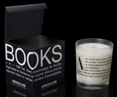 sareva:  A candle that smells like books. How novel.