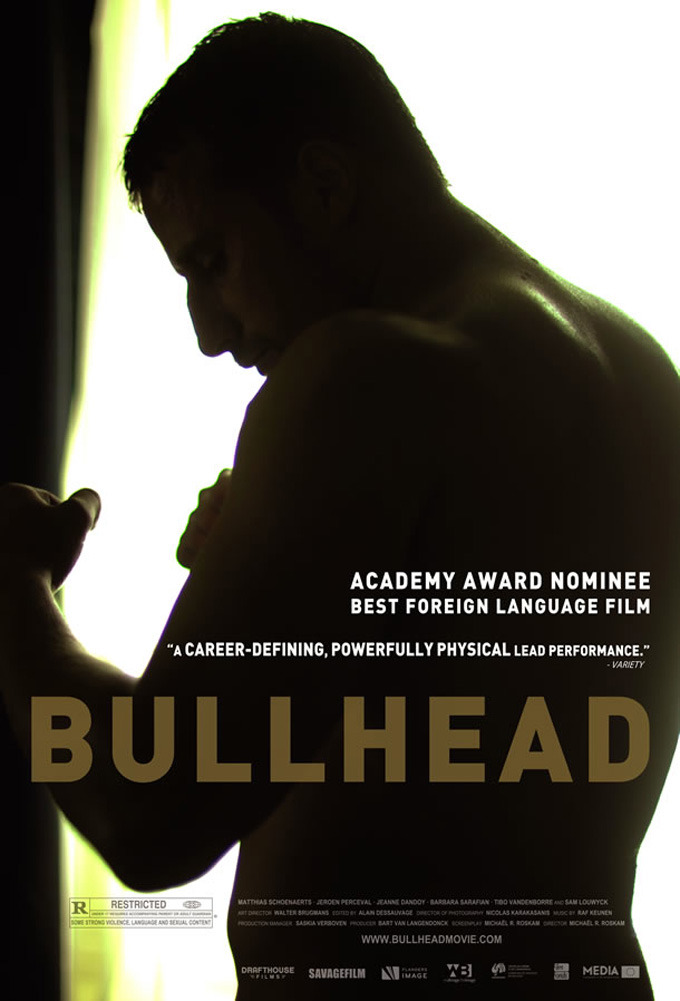 Michael R. Roskam's Bullhead. The film follows young farmer and all-round muscle Jacky Vanmarsenille as he navigates his way through the Belgian underworld and is forced to confront the demons of his past.