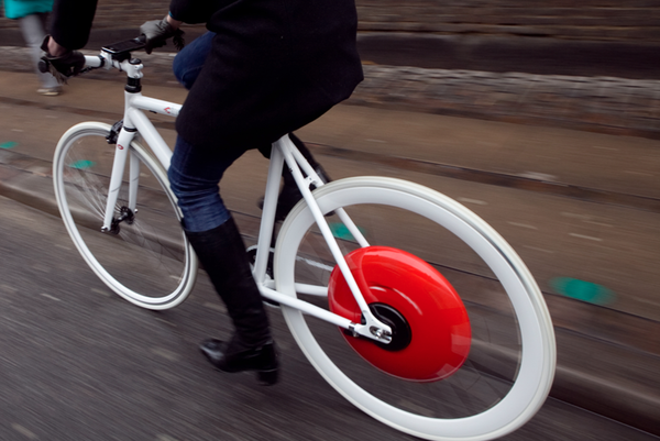 The Copenhagen wheel in action via dcycledesign